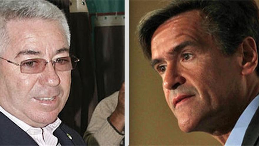 El exalcalde de Telde Santiago Castellano y el europarlamentario del PSOE Juan Fernando López Aguilar.
