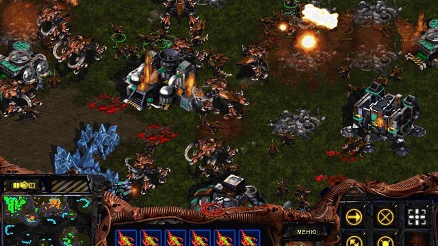 Un jugador 'rushea' a otro en 'Starcraft'