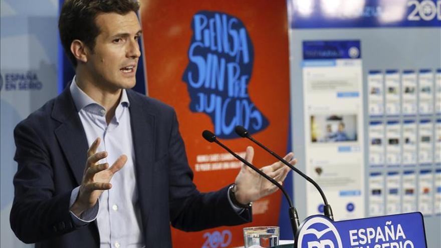 """Casado sostiene que el PP aspira a """"una mayoría suficiente de gobierno"""""""