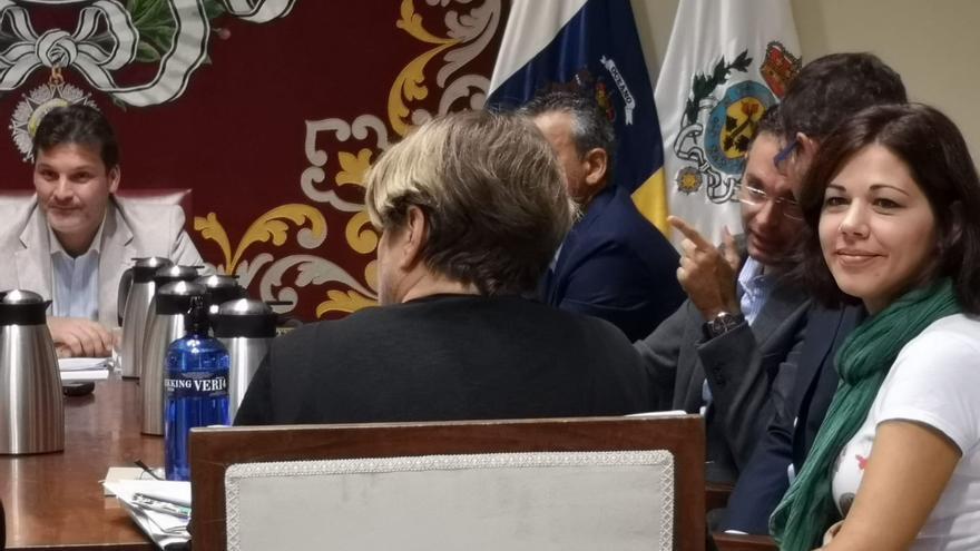 La concejala Yaiza Gorrín en la Comisión de Control del Ayuntamiento de Santa Cruz de Tenerife este jueves.