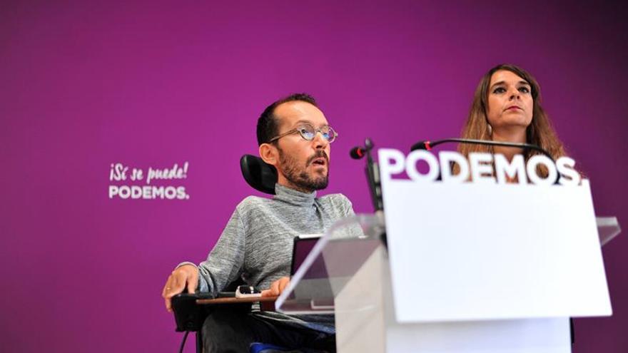 """Podemos dice que a día de hoy su voto es un """"no"""" a los presupuestos del PSOE"""