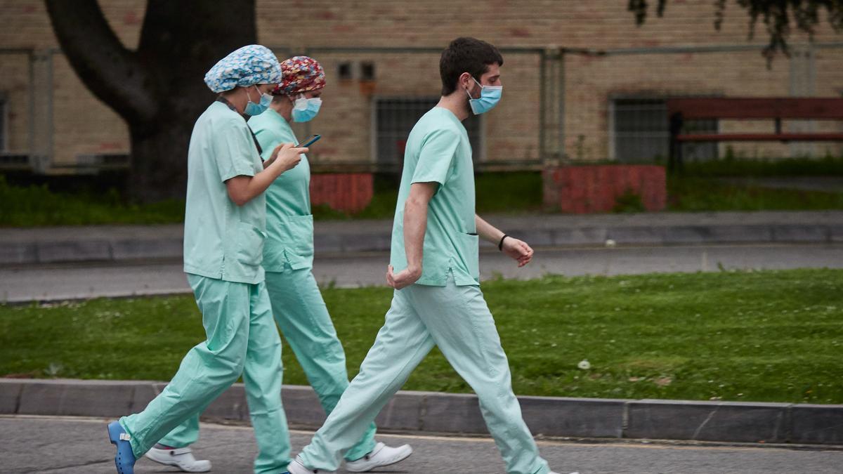 Personal sanitario del Hospital de Navarra.