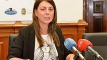 La exconcejala de Santander Noelia Espinosa en rueda de prensa.