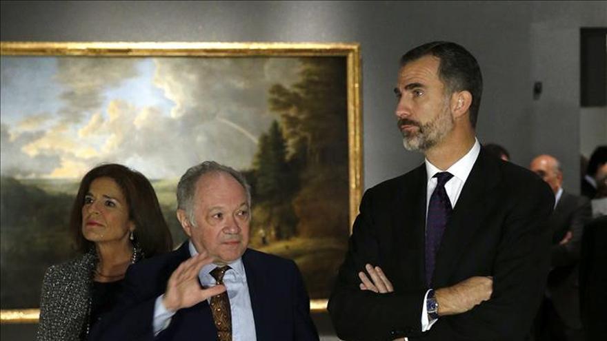 El Rey inaugura el nuevo museo madrileño con obras de la pintura flamenca