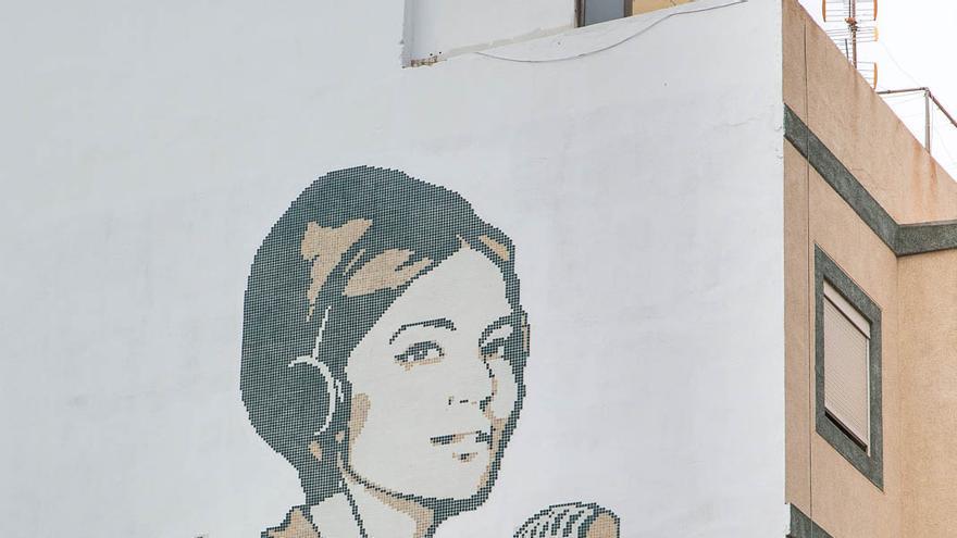 Mural en homenaje a Mara González (Flickr Cabildo de Gran Canaria)