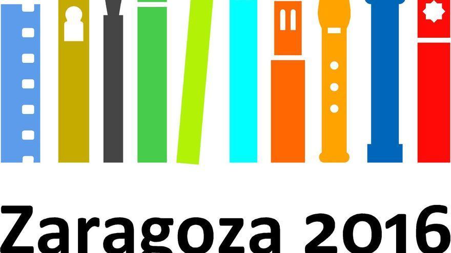 Logotipo de la candidatura de Zaragoza a la Capitalidad Europea de la Cultura 2016.