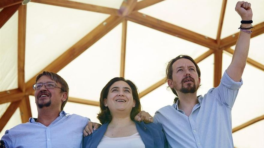 La crisis catalana atrapa a Podemos sin moverse de su ruta para echar a Rajoy