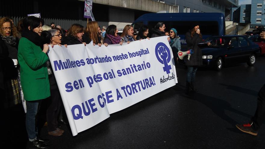 Protesta ante el CHUAC de A Coruña