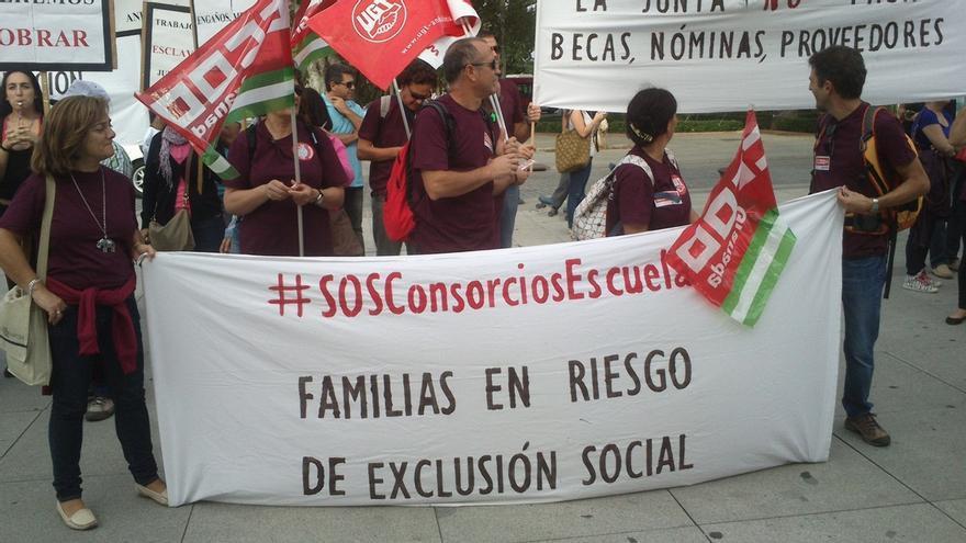 """Trabajadores de las once Escuelas Taller de Andalucía alertan sobre la """"crítica"""" situación """"sin cobrar nóminas"""""""