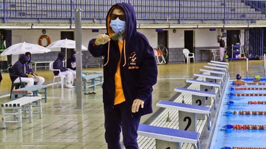 Mercia Rodríguez, primera española con más de 80 años en nadar los 1.500 metros
