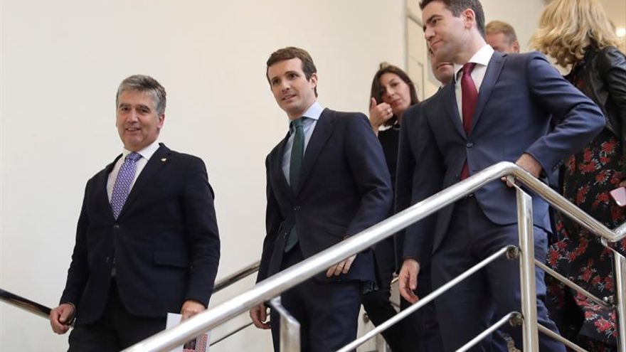 Cosidó, Casado y García Egea, en el Senado.