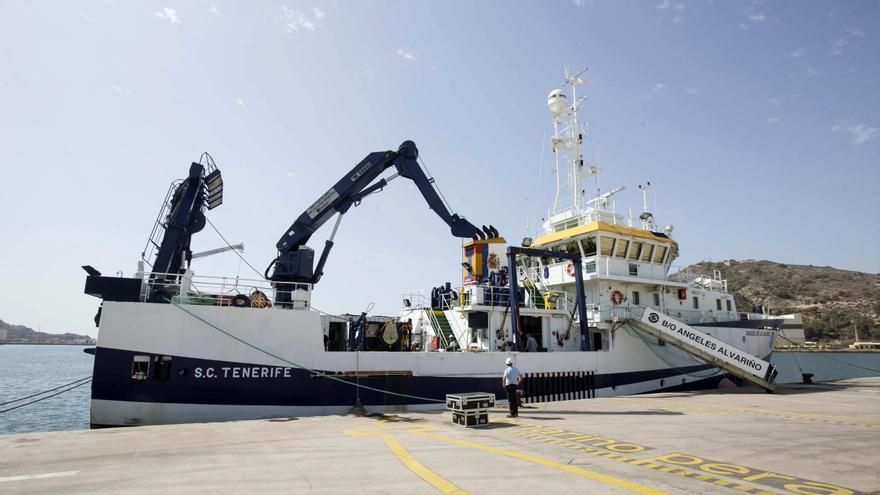 Imagen del buque Ángeles Alvariño. EFE/Marcial Guillén/Archivo