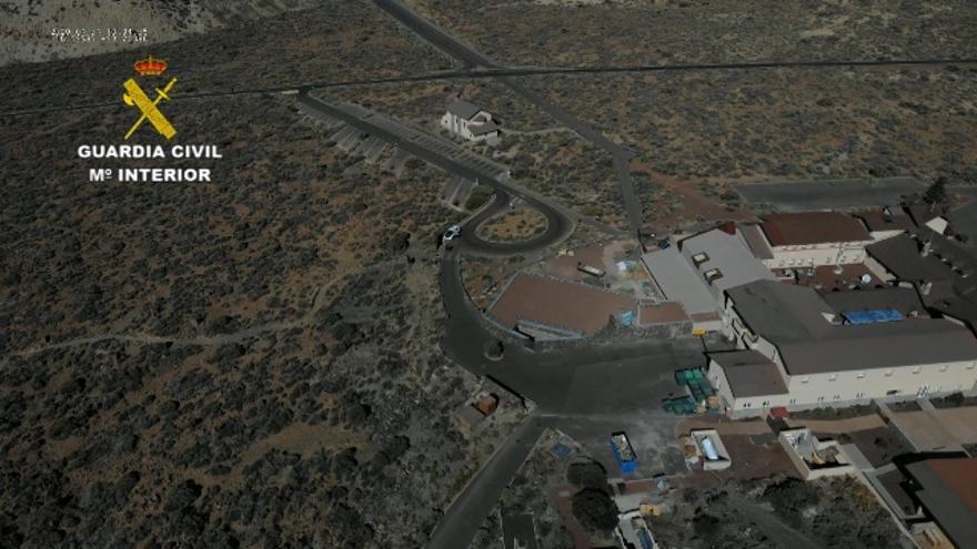 Imagen de la vigilancia aérea que realiza la Guardia Civi.