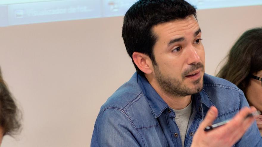 El portavoz de Ganemos Jaén, Manuel Montejo