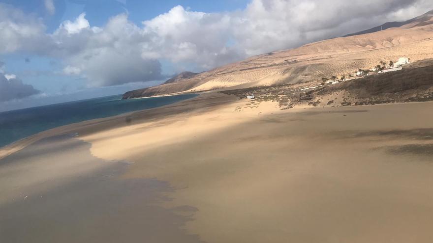 Playas de Jandía, en Fuerteventura, desiertas durante el confinamiento