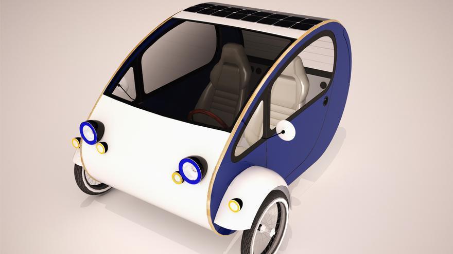 El coche-bici sostenible de Evovelo.