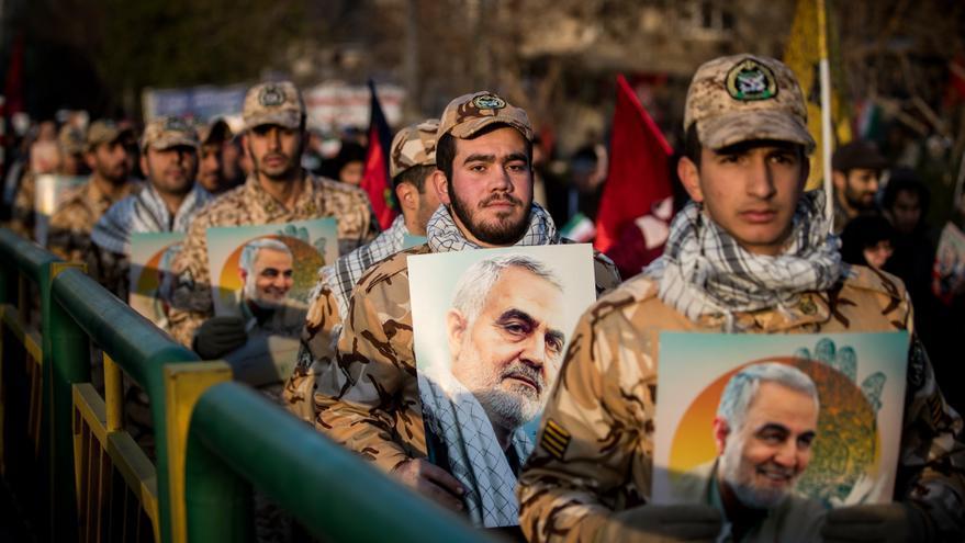 Iraníes durante el funeral al general Qasem Suleimani, fallecido en una operación dirigida por EEUU.