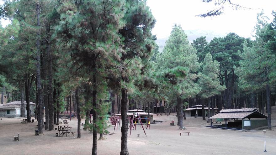 Área recreativa del Refugio de El Pilar, en el municipio de El Paso.