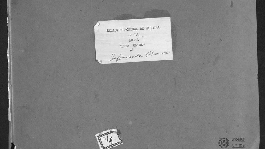 Portada de la lista de masones españoles entregada por el III Reich a las autoridades franquistas.