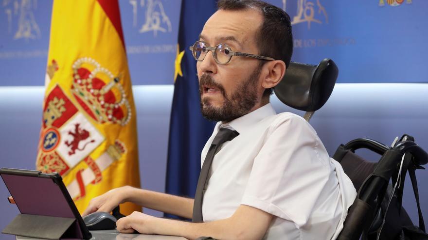 Echenique aplaude el cambio de posición del PSOE respecto a los indultos