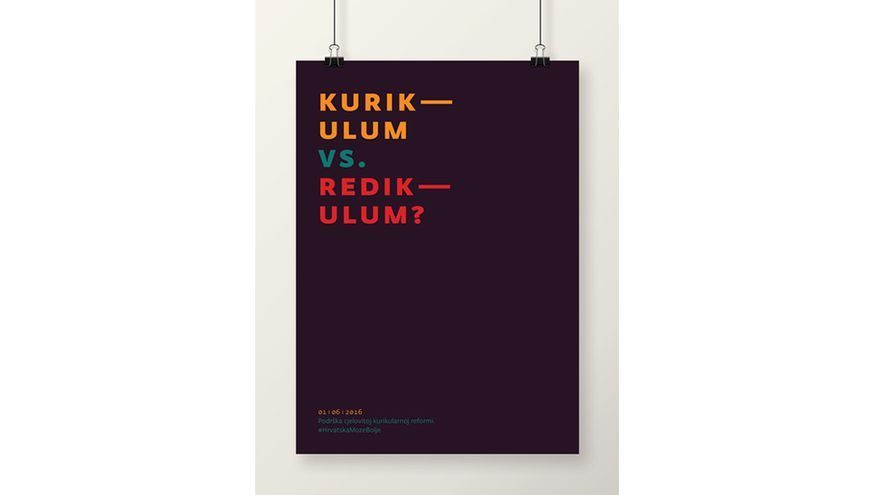 Currículo - Ridículo, un diseño de apoyo a la campaña 'Croacia puede hacerlo mejor'