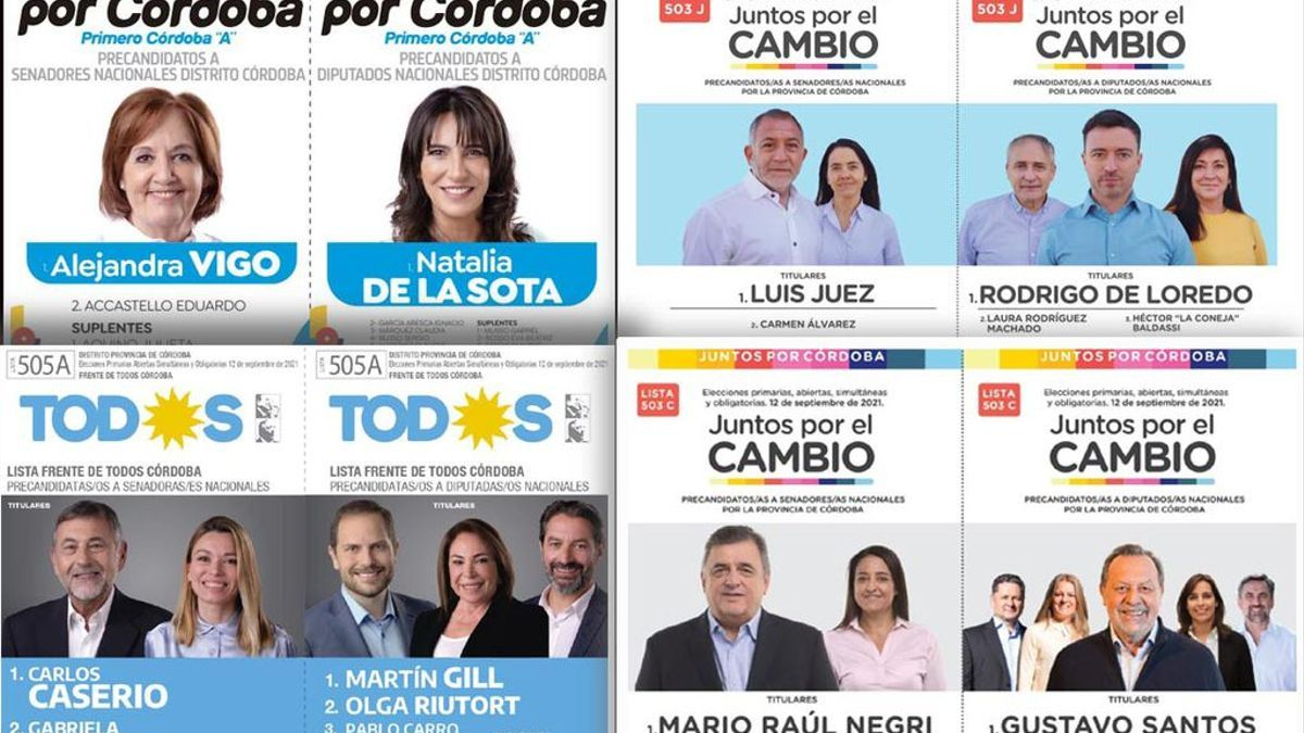 Oferta electoral en Córdoba