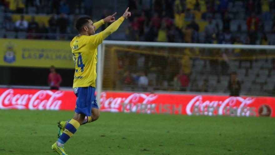 El jugador de la UD Las Palmas, Tanausú Domínguez.