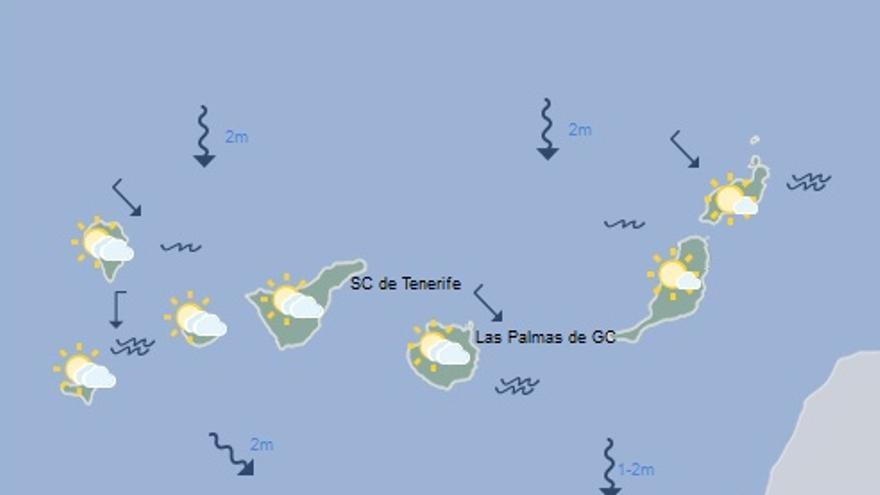 Mapa con la previsión meteorológica de este domingo, 26 de marzo