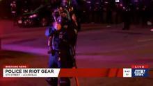 Un agente dispara contra periodistas en Louisville, Kentucky.