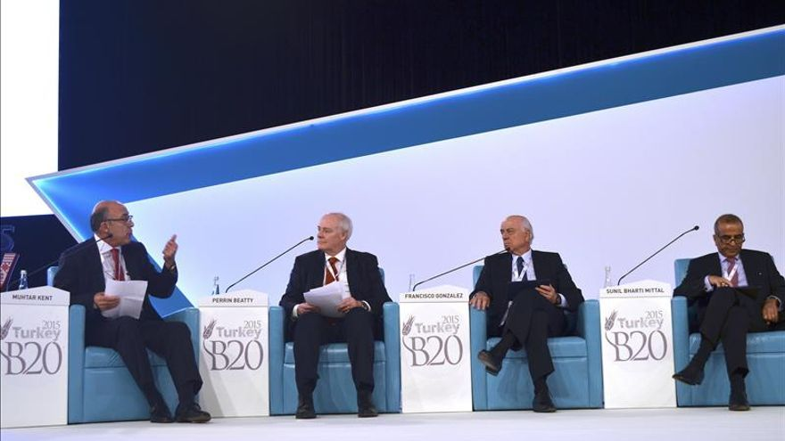 El presidente del BBVA exige del G20 medidas para impulsar la economía
