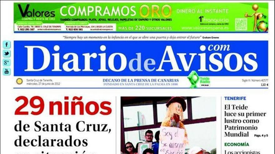 De las portadas del día (27/06/2012) #3