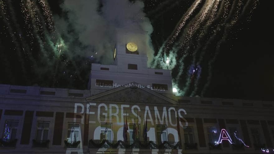 Campanadas de Fin de Año con el horario canario en la Puerta del Sol