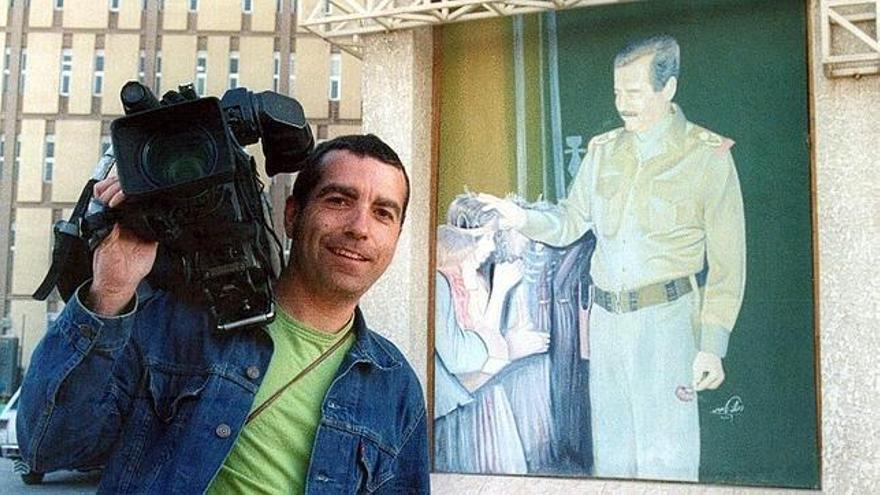 José Couso días antes de ser asesinado por el ejército de EEUU en Irak