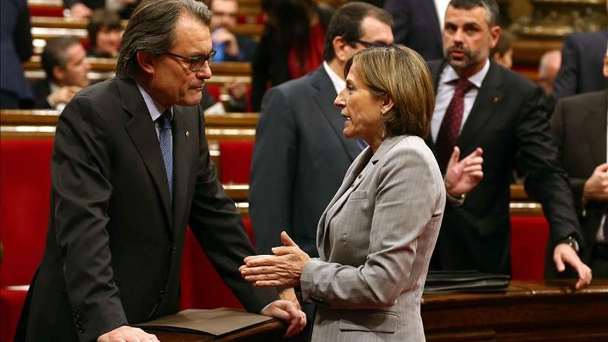 """Mas y Forcadell avisan que el TC no puede anular la """"voluntad"""" de los catalanes"""