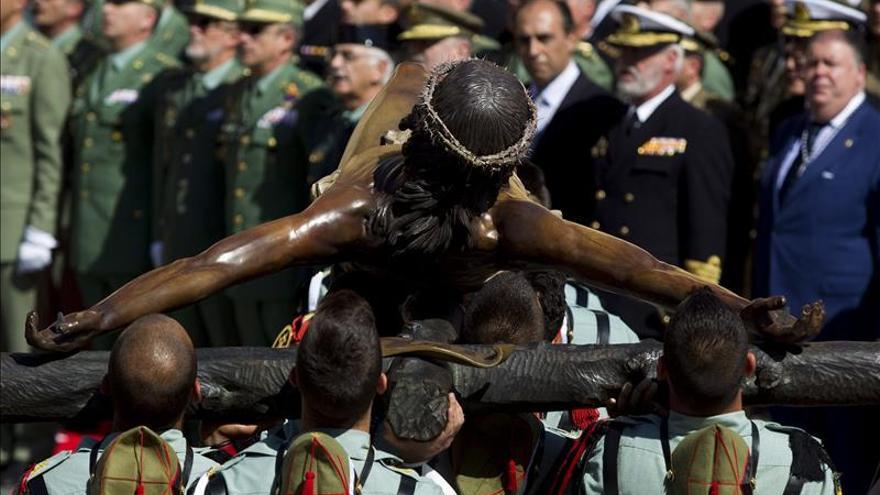 La Legión desembarca en Málaga para desfilar con el Cristo de la Buena Muerte