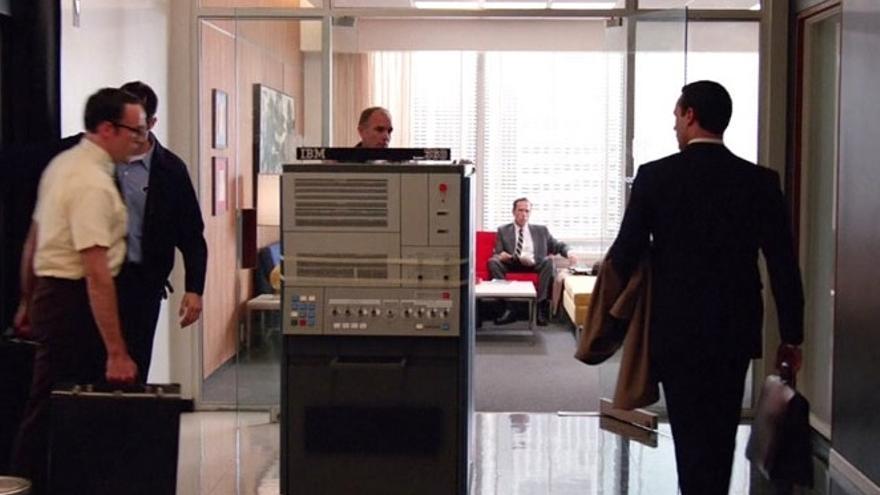 IBM S/360 en Mad Men. Imagen: AMC