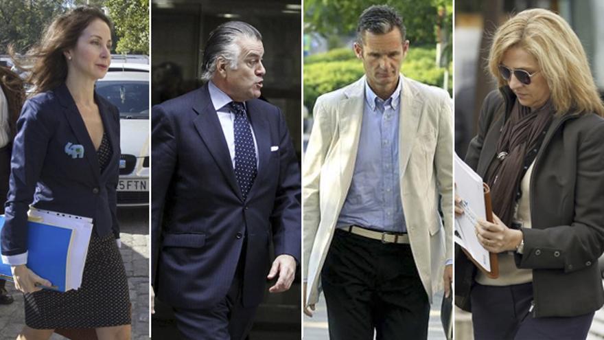 Montaje Alaya, Bárcenas, Urdangarín y la Infanta Cristina