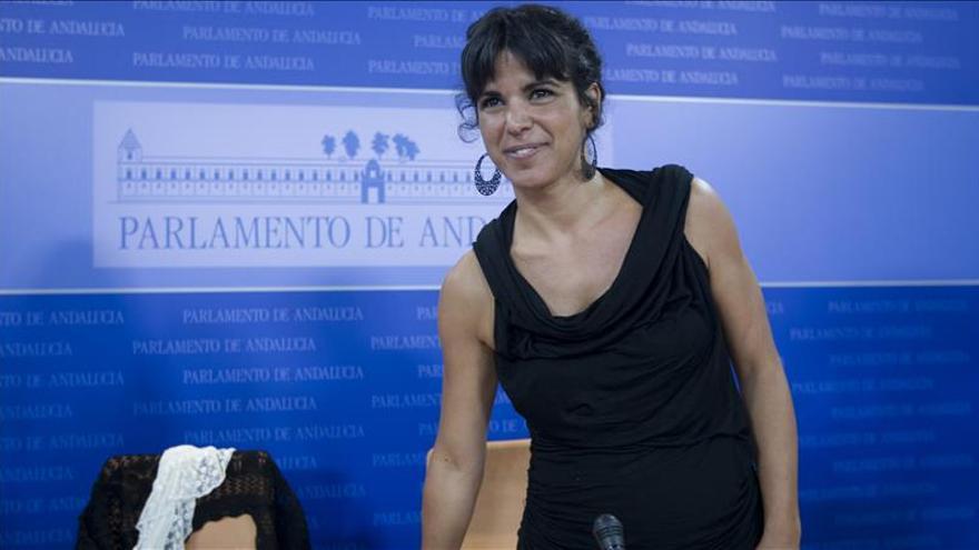 """Teresa Rodríguez (Podemos) descarta confluencia de la izquierda """"en despachos"""""""