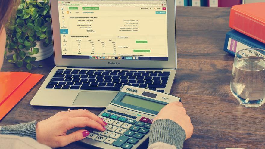 ordenador, calculadora, empresa