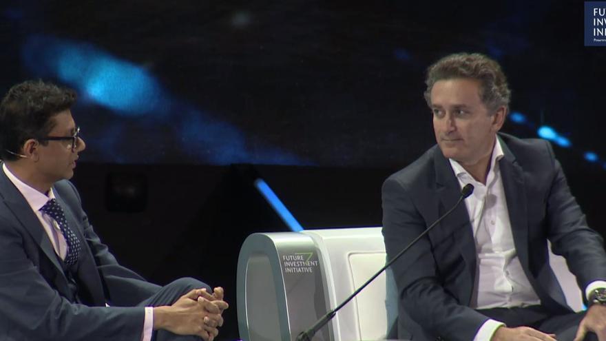 Alejandro Agag, director general de Fórmula E, durante su intervención en el foro Future Investment Initiative de Arabia Saudí.