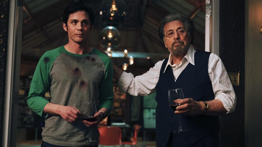 Logan Lerman y Al Pacino en 'Hunters'