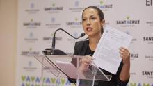 """Patricia Hernández critica la credibilidad de CC y PP al pactar con """"la primera tránsfuga"""" en la historia de Santa Cruz"""