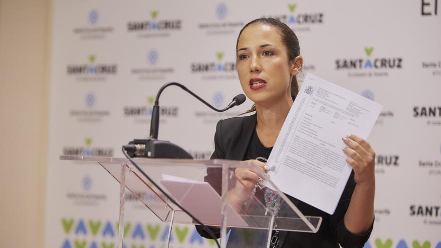 La alcaldesa de Santa Cruz de Tenerife, Patricia Hernández.