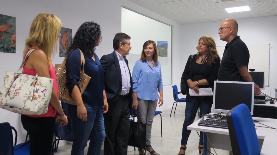 Cristina Valido en su visita este viernes a La Palma.