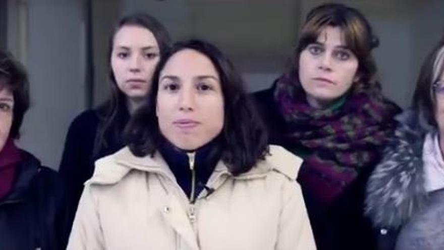 Algunas de las protagonistas del vídeo de presentación de 'No más precariedad'