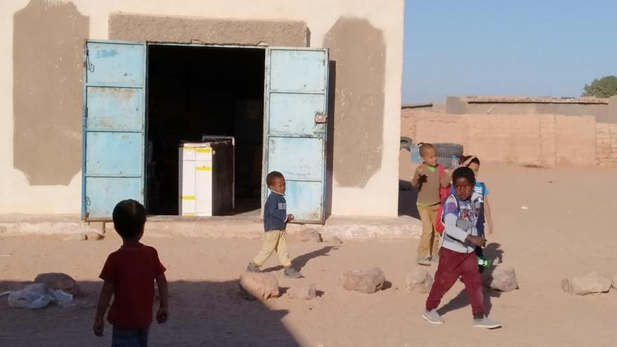 Campamento saharui (Imagen de archivo).