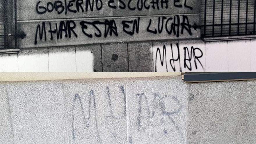 Una pintada por la libertad sexual sobrevive en los juzgados de Sevilla 40 años después