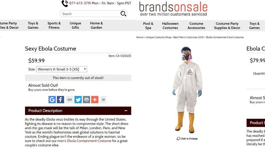 Disfraz de traje de contención de Ébola.