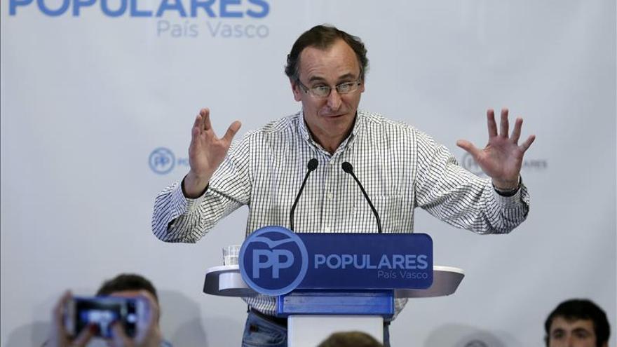 """Alfonso Alonso considera """"inquietante"""" la actitud de Podemos con el yihadismo"""