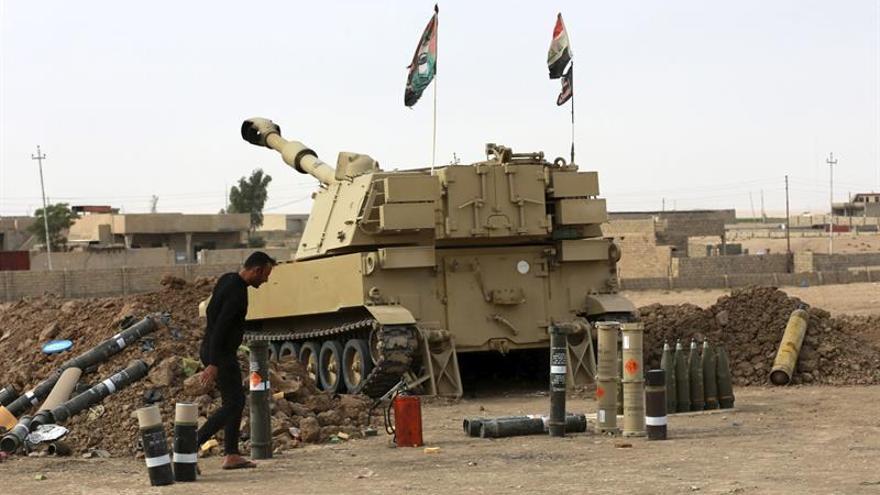 Las fuerzas iraquíes repelen un ataque con un coche bomba al sur de Mosul